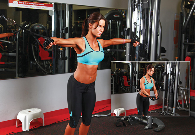 Cable chest fly/cable cross over - Women's Health & Fitness