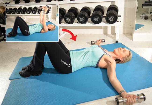 Floor flies with dumbbells - Women's Health & Fitness