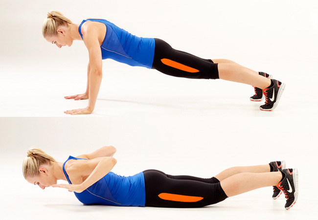 Hand-release push-ups for toned abs & arms