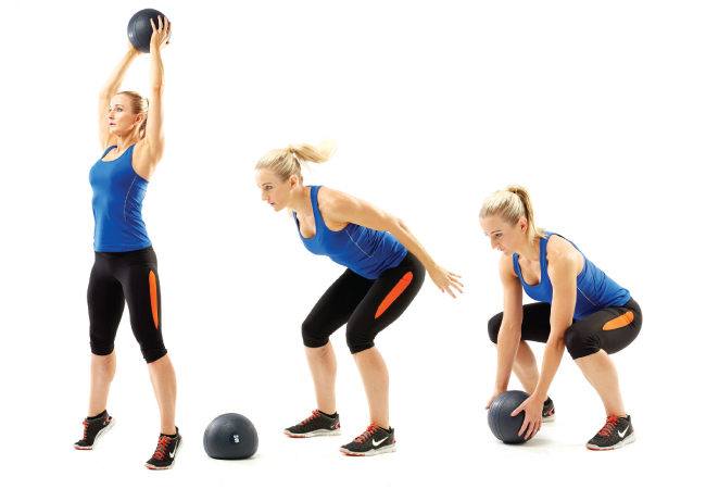Medicine ball slams - Fat-burning exercises for summer - Women's Health & Fitness