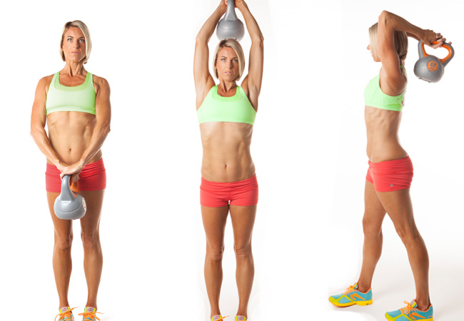 Triceps extension with kettlebell - Women's Health & Fitness