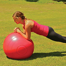 Fitball Ab Exercise