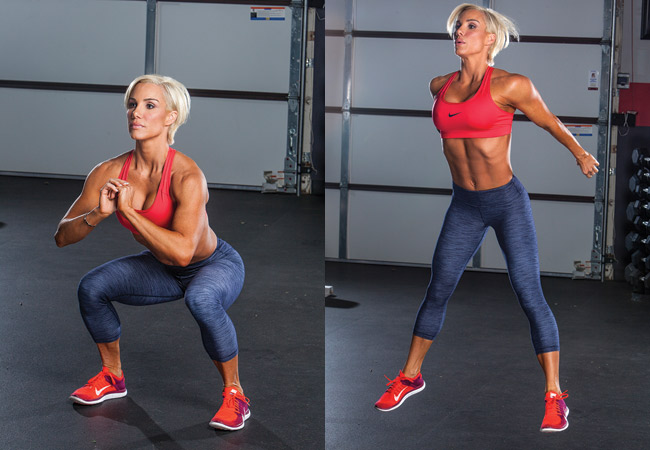 Jump squats for toned legs & glutes