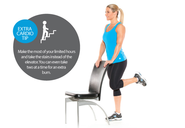 Standing leg curls - 6 exercises you can do at work - Women's Health & Fitness