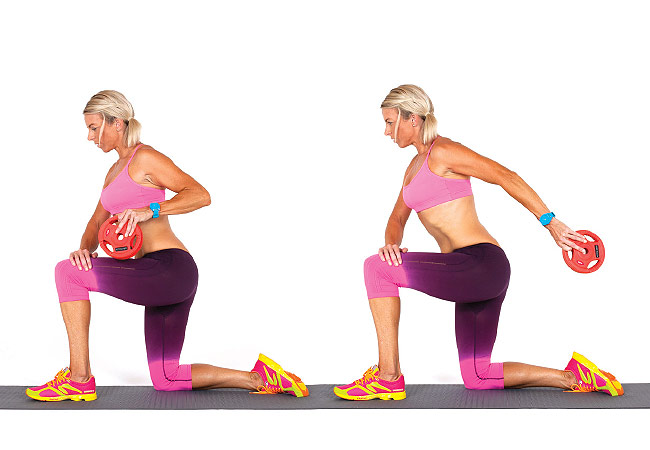 Tricep kick back kneeling - PICTURE - Women's Health & Fitness