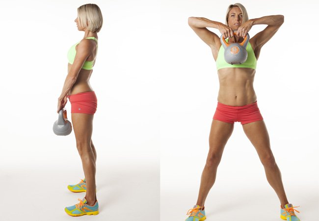 Standing Pull Up With Kettlebell