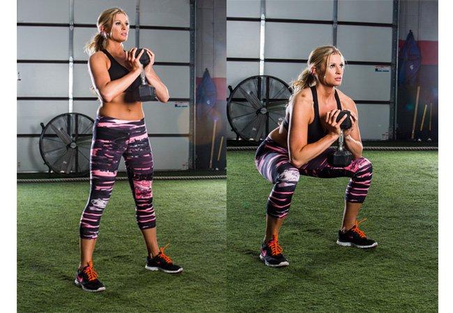 Butt thigh workout - circuit 1 - Goblet squat