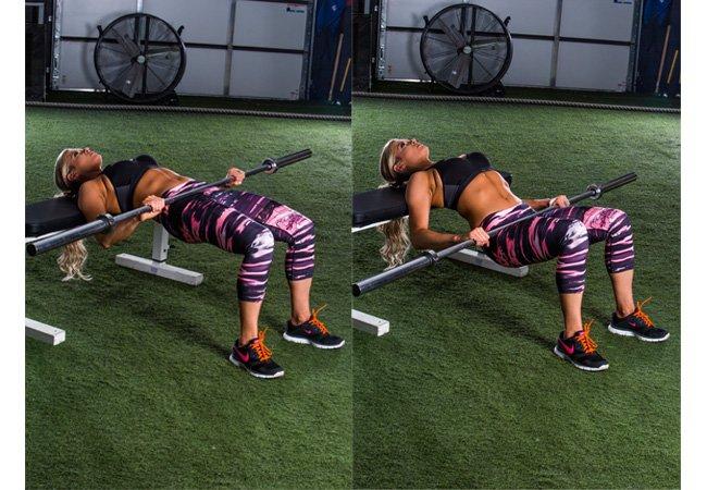 Butt thigh workout - circuit 1 - Barbell hip thruster