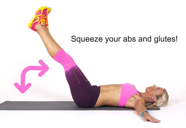 Lower leg raise for abs and core - PHOTO - Women's Health & Fitness