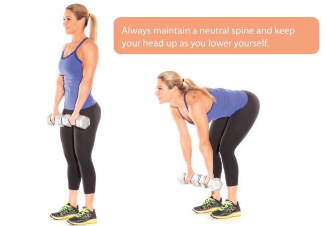 Split squats with dumbbells - Women's Health & Fitness