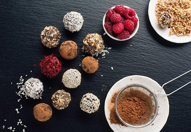 Raspberry coconut protein truffles - Women's Health and Fitness Magazine